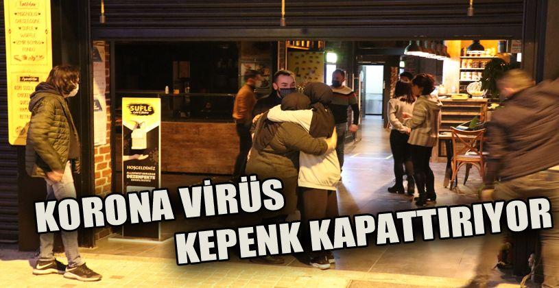 Bolu'da, korona virüs kafe ve restoranlara kepenk kapattırdı