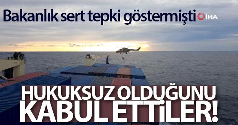 İrini Operasyonu Komuta Merkezi: 'Türkiye'den yanıt gelmeden gemiye çıktık'