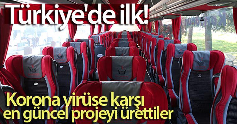 Türkiye'de ilk...Yolcu otobüslerinde korona virüse karşı en güncel projeyi ürettiler