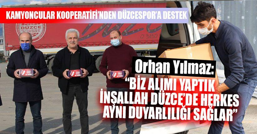 Kamyoncular Kooperatifi'nden Düzcespor'a Destek