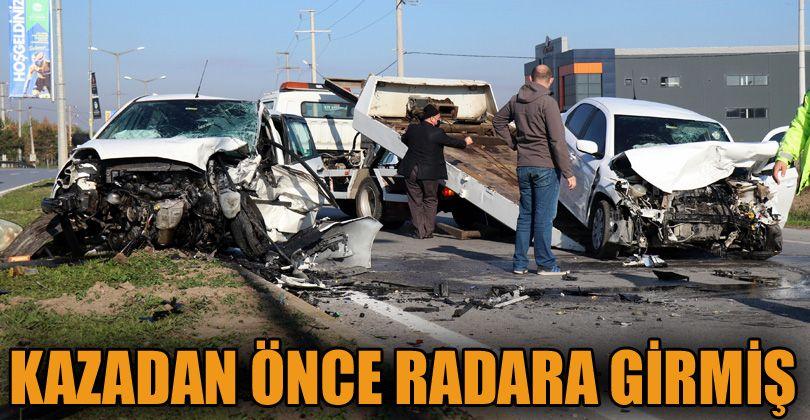 Duble yolda meydana gelen kazada ilginç detay