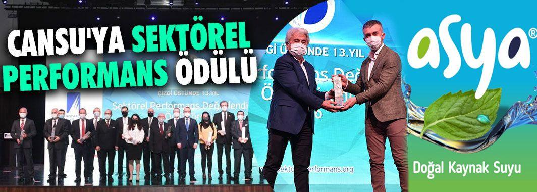 Cansu'ya Sektörel Performans Ödülü