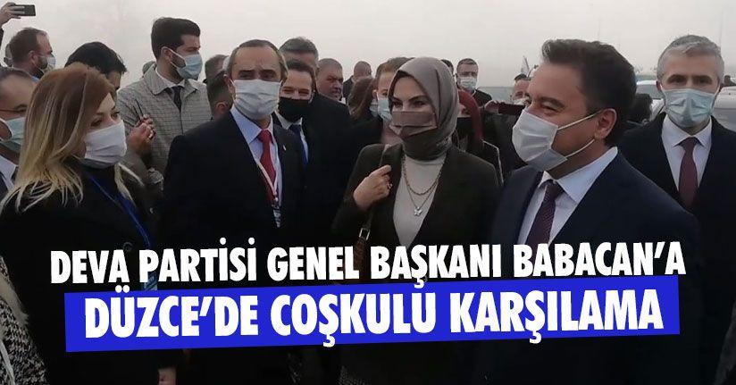 DEVA Partisi Genel Başkanı Babacan Düzce'de