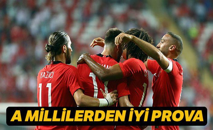 A Millilerden iyi prova: Türkiye 2-0 Yunanistan