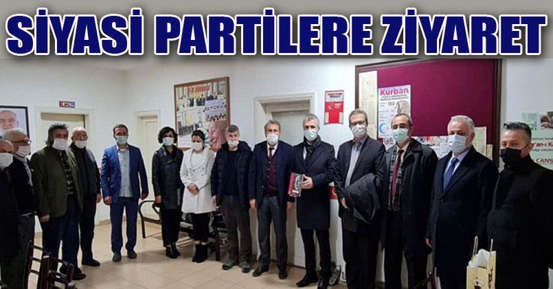 DEVA Partisi İl Teşkilatı  Düzce'deki siyasi partileri ziyaret etti