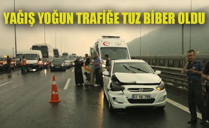 TEM'de Kaza 8 Yaralı