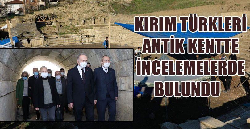 Kırım Türkleri Kazı Alanında İncelemelerde Bulundu