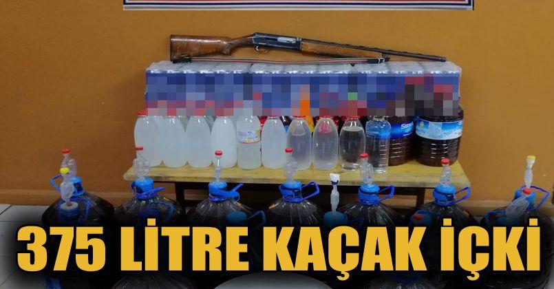 Bolu'da 375 litre sahte alkollü içki ele geçirildi