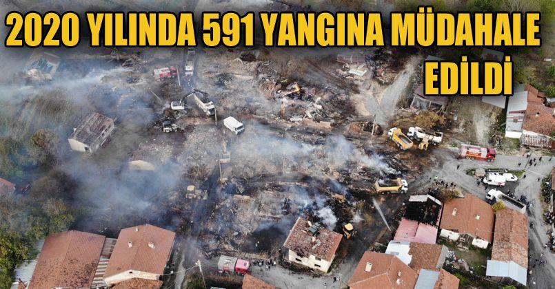 Bolu'da itfaiye ekipleri 591 yangına müdahale etti