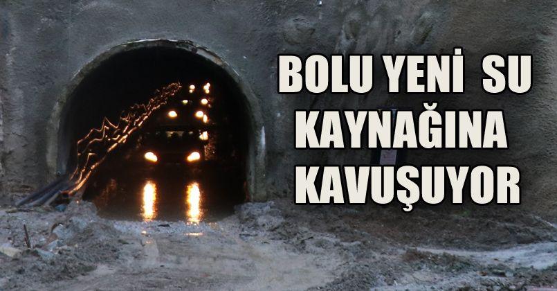 Bolu'nun içme suyunu sağlayacak Karadere Tüneli'nde iç kaplama işi bitti