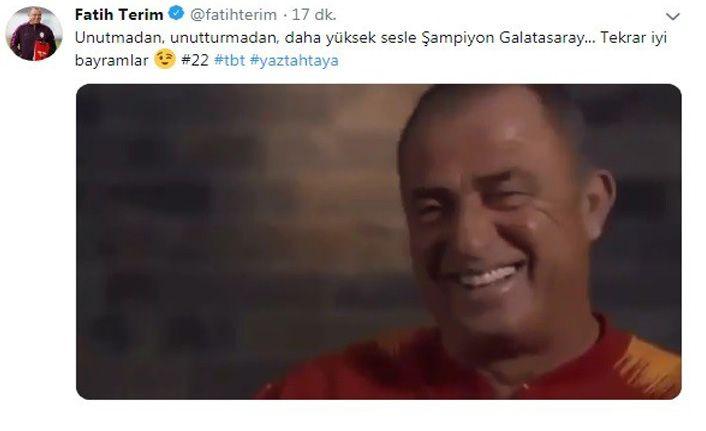Fatih Terim'den 'şampiyonluk' vurgulu bayram mesajı