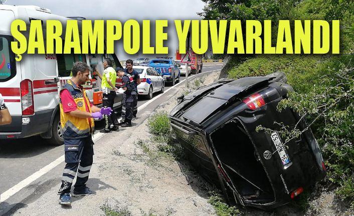 Bolu Dağında  kaza 1 kişi öldü 3 kişi yaralandı