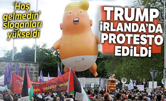 Trump, İrlanda'da protesto edildi