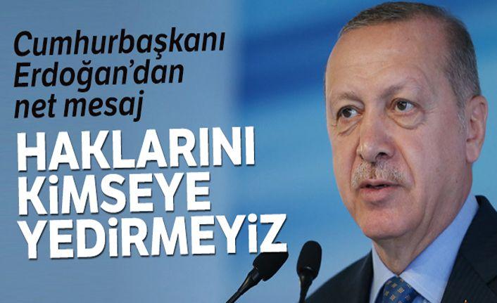 Cumhurbaşkanı Erdoğan: 'Kıbrıslı soydaşlarımızın hakkını yedirmeyiz'