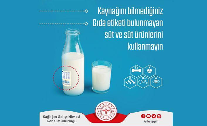 """SBSGGM uyardı: """"Kaynağını bilmediğiniz süt ve süt ürünlerini kullanmayın"""""""