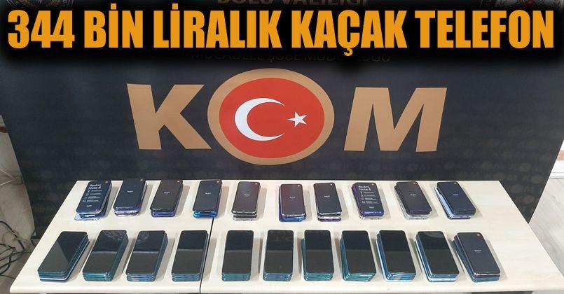 334 bin liralık kaçak telefon yakalandı