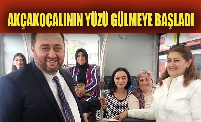 Başkan Otobüste Vatandaşla Bayramlaştı