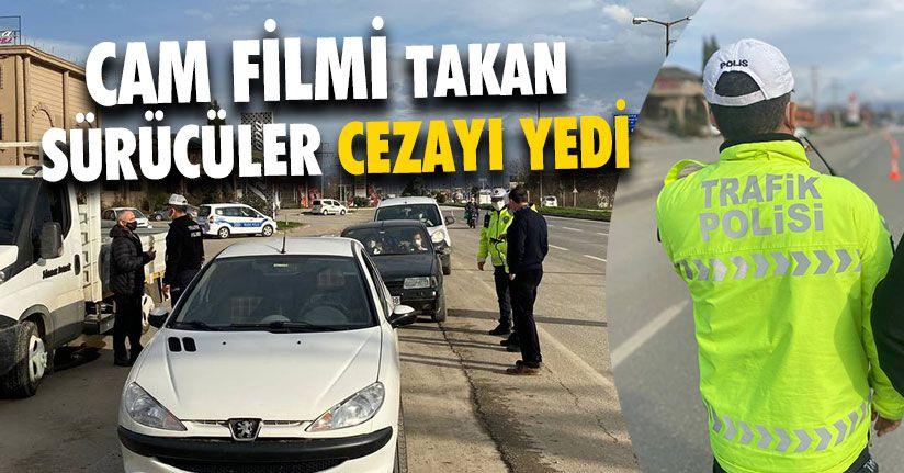 Cam Filmi Takan Sürücüler Cezayı Yedi