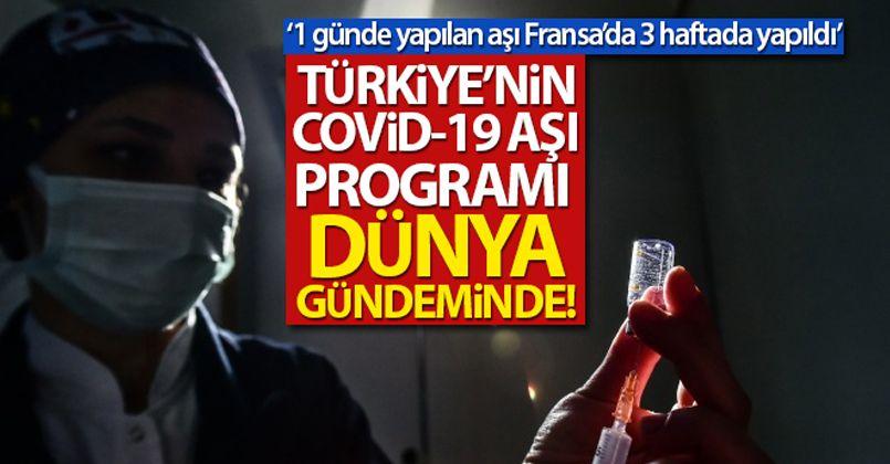 Türkiye'nin Covid-19 aşı programı dünya gündeminde