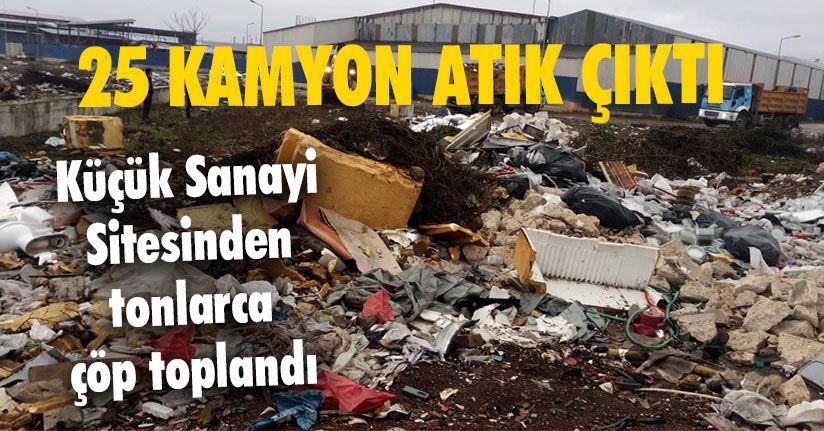 Küçük Sanayi Sitesinden Tonlarca Çöp Toplandı