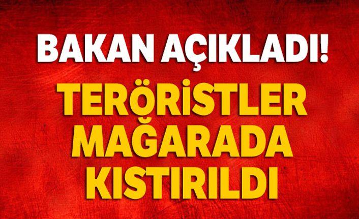 Bakan Soylu: Tunceli'de 5 terörist bir mağarada kıstırıldı