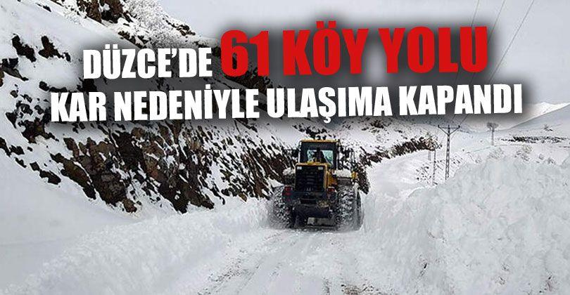 Köy Yolları Kar Nedeniyle Ulaşıma Kapandı