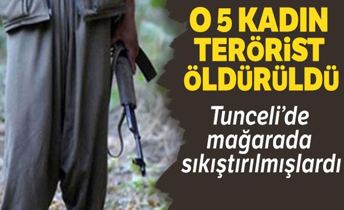 Tunceli'de 5 kadın terörist etkisiz hale getirildi