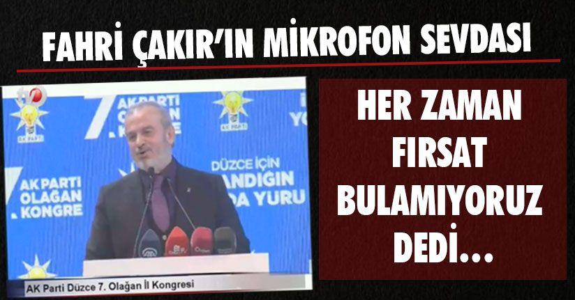 AK Parti Kongresinde Mikrofon Krizi
