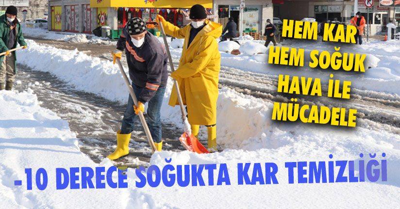 Dondurucu Soğukta Kar Temizliği