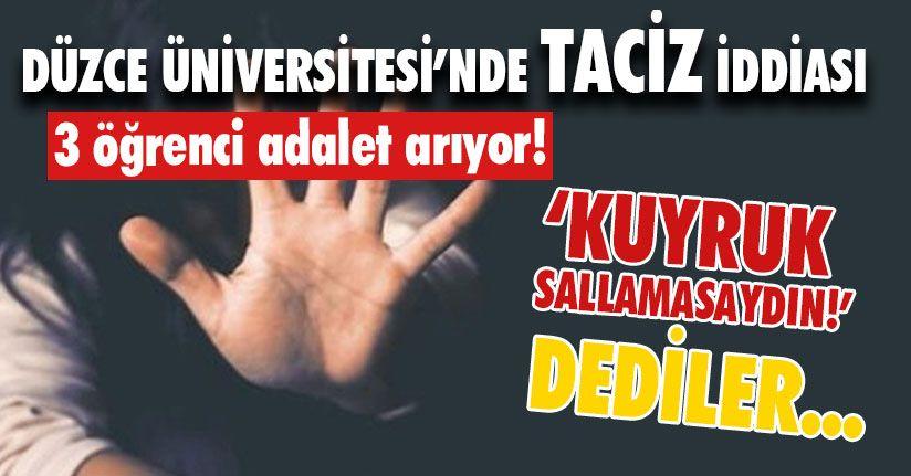 Düzce Üniversitesi'nde Taciz İddiası