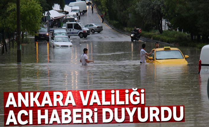 Ankara Valiliği: '3 vatandaşımız selde hayatını kaybetti'