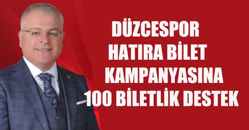 Erkan Seçkin'den 100 Biletlik Destek