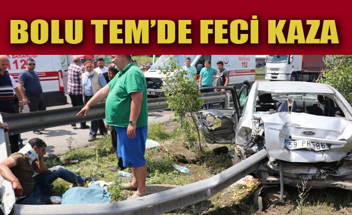 TEM'de feci kaza: 2 ölü, 5 yaralı