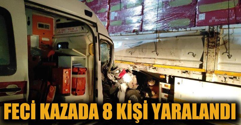 Sakarya D-100 Karayolu'ndaki feci kaza