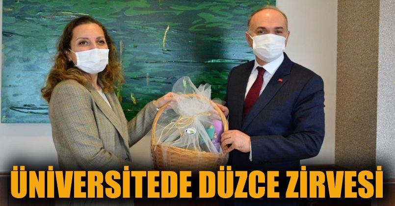 Başkan Özlü ve Rektör Çakar Düzce'yi konuştu