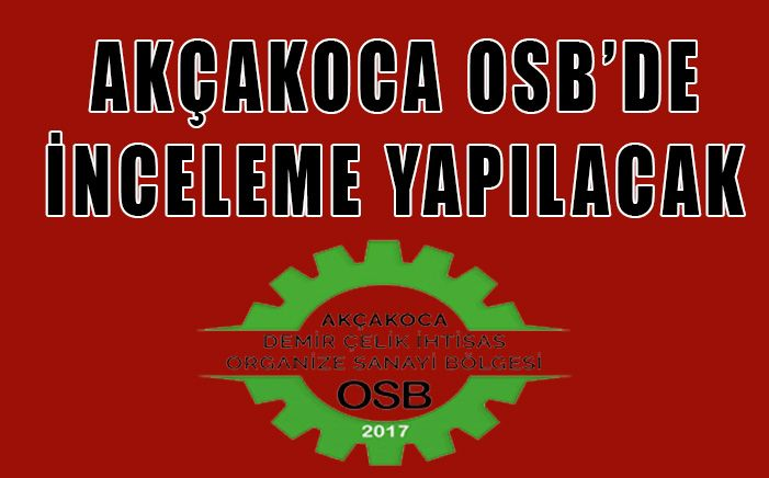 Akçakoca OSB'de Her Şey Sil Baştan