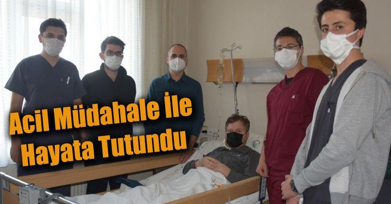 Gazlı kangren hastası acil müdahale ile hayata tutundu