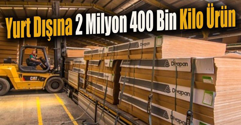 Düzce'den yurt dışına 2 milyon 397 bin 533 kilogram ürün