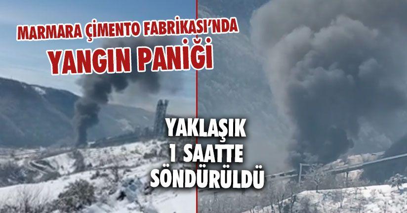Marmara Çimento Fabrikasında Yangın