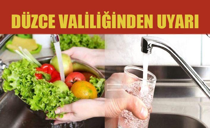 Valilikten İçme Suyu Ve Kullanımı Hakkında Uyarı