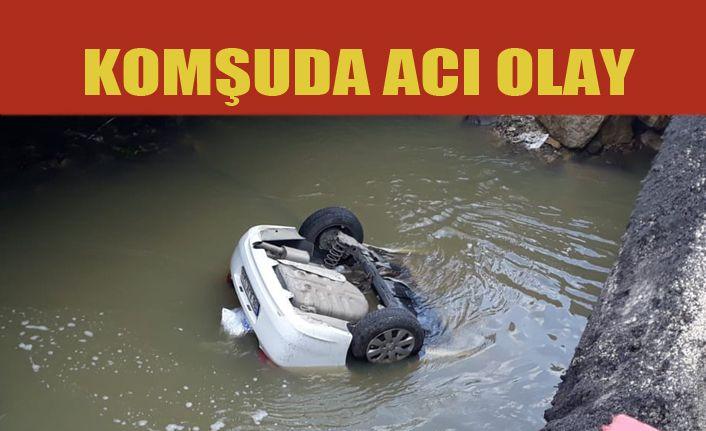 Dereye düşen otomobildeki 3 kişi hayatını kaybetti
