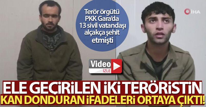 Gara'da Pençe Kartal-2 Harekatı'nda ele geçirilen teröristlerin kan donduran ifadeleri ortaya çıktı