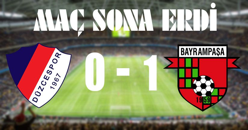 Düzcespor 0-1 Bayrampaşaspor