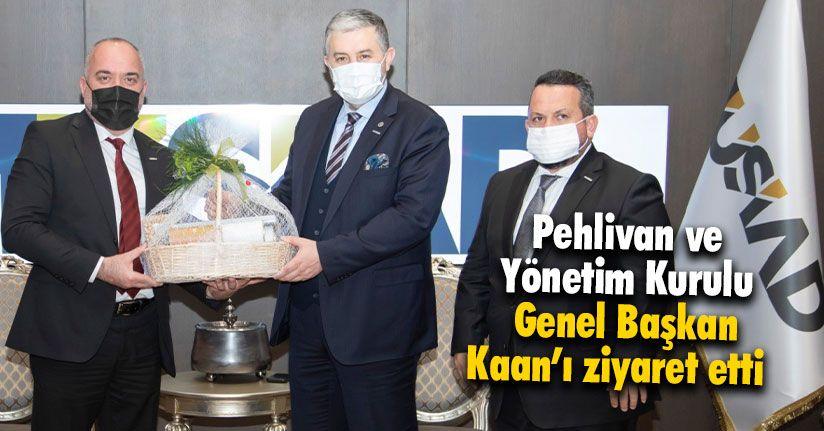 Pehlivan ve Yönetim Kurulu Genel Başkan Kaan'ı Ziyaret Etti