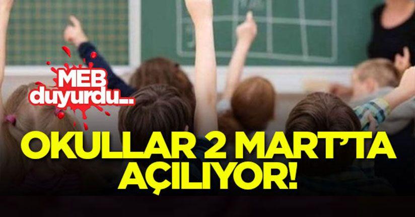 Yüz Yüze Eğitim 2 Mart'ta Başlıyor