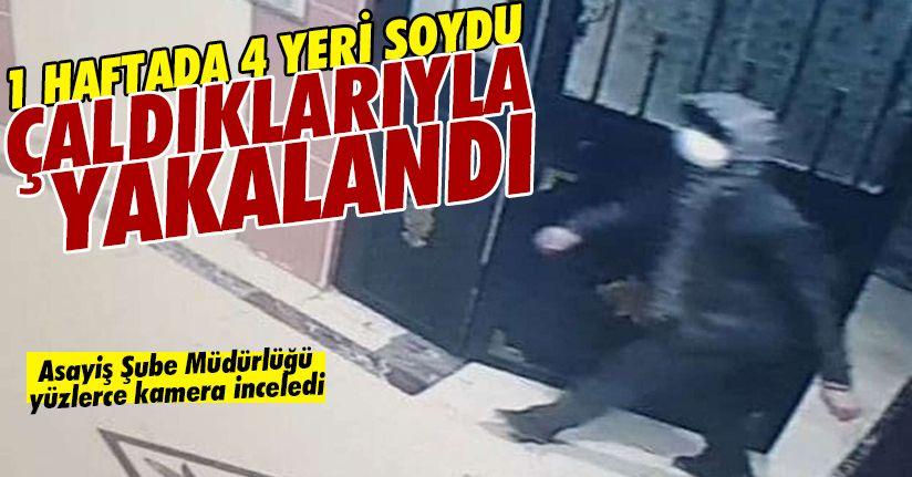 1 Haftada 4 Yeri Soyan Hırsız Çaldıkları İle Polisten Kaçamadı