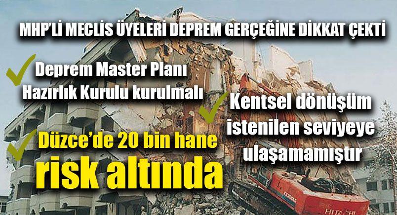 MHP'li Meclis Üyeleri Deprem Gerçeğine Dikkat Çekti