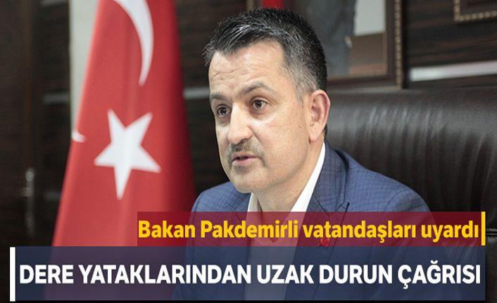 Tarım ve Orman Bakanı Bekir Pakdemirli'den vatandaşlara uyarı
