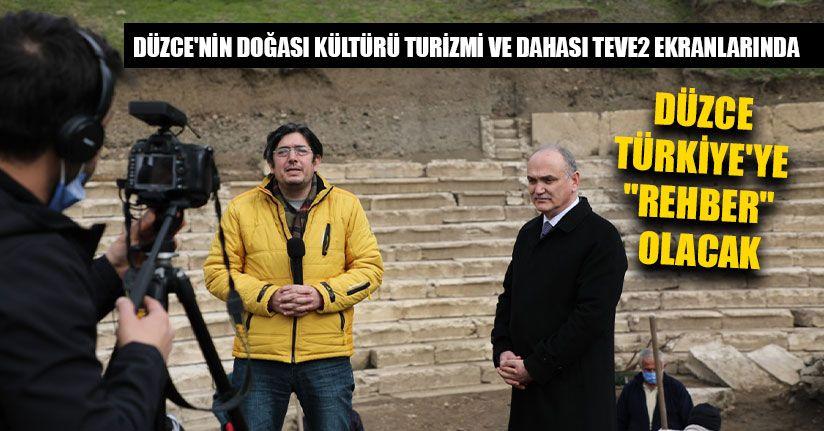 Başkan Özlü Teve2'de Düzce'yi Anlattı
