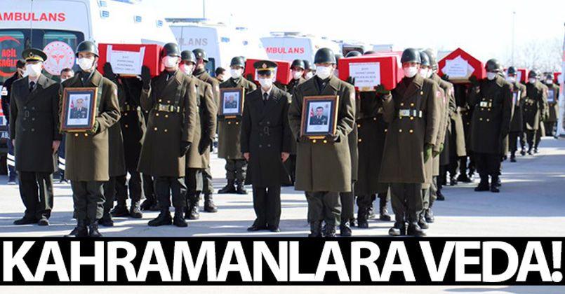 11 şehidimiz Elazığ'dan törenle Ankara'ya uğurlandı